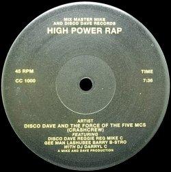 画像1: DISCO DAVE AND THE FORCE OF THE FIVE MCS/HIGH POWER RAP