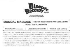 画像2: STILLMOMENT/ MUSICAL MASSAGE -BISCUIT RECORDS 5TH ANNIVERSARY MIX-