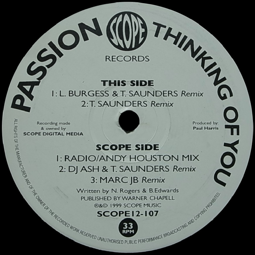 biscuit records passion thinking of you